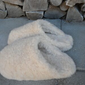 Slippers - Beige 100% uld